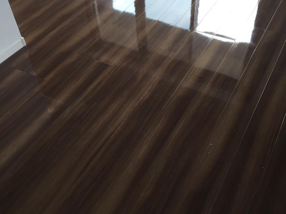 パナソニック電工の床材をフロアコーティング [after]