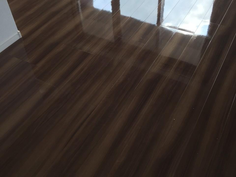 永大産業のフローリングにフロアコーティング [after]